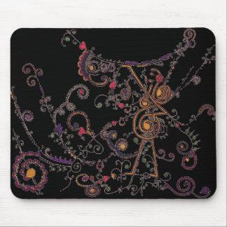 Noir Mousepad de conception de tatouage d'univers Tapis De Souris