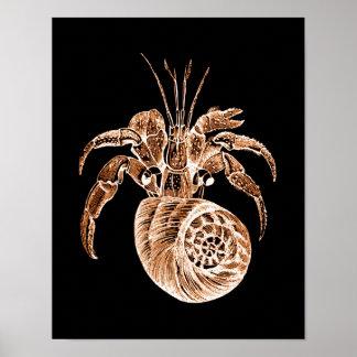 Noir nautique côtier de plage d'aquarelle de poster