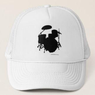 Noir réglé de casquette de tambour