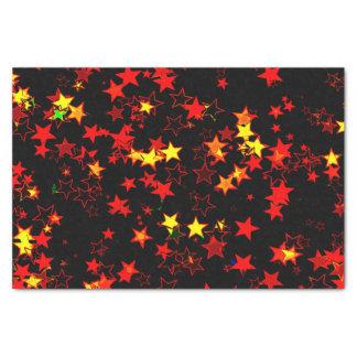Noir rouge d'or de Noël de papier de soie de soie