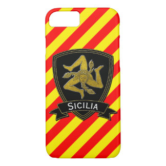 Noir sicilien de Trinacria et jaune rouge d'or Coque iPhone 7