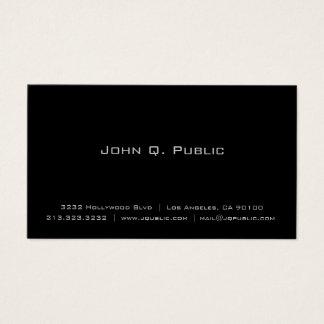 Noir simple élégant simple professionnel carte de visite standard