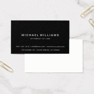Noir simple moderne minimaliste professionnel cartes de visite