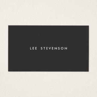 Noir simple moderne professionnel simple carte de visite standard