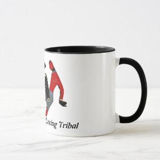 Noir tribal de danse tasse de sonnerie de 11 onces