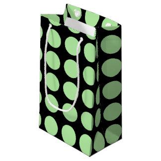 Noir vert doux de pois petit sac cadeau