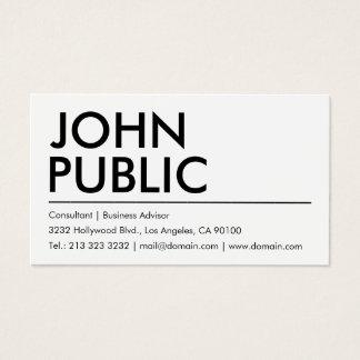 Nom audacieux blanc simple simple cartes de visite