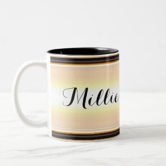 Nom beige/noir de HAMbyWG - tasse de café - du
