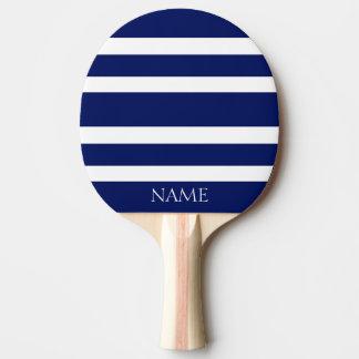 Nom blanc classique moderne de coutume de rayures raquette tennis de table