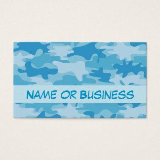 Nom bleu de camouflage de Camo personnalisé Cartes De Visite