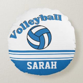 Nom bleu et blanc du volleyball | do-it-yourself coussins ronds