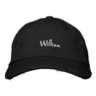 Nom brodé de William de casquette