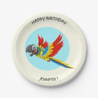Nom coloré heureux d'anniversaire de enfant de assiettes en papier