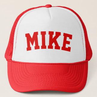 Nom court rouge personnalisé casquette