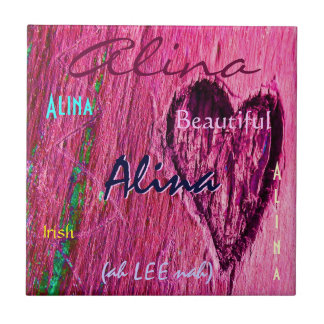 Nom d'Alina et signification irlandaise avec le co Carreau En Céramique