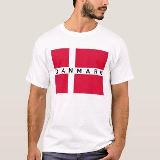 nom danois des textes de pays de drapeau de t-shirt