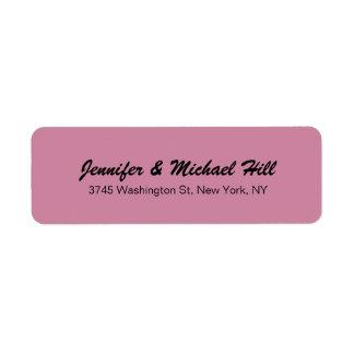 Nom de famille créatif unique de manuscrit de rose étiquettes d'adresse retour