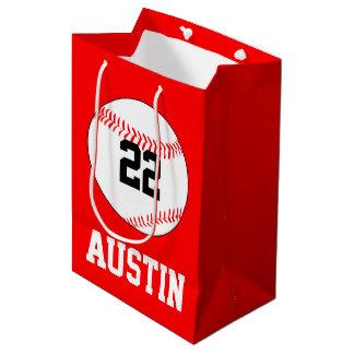 Nom de joueur de partie de base-ball, nombre, sac