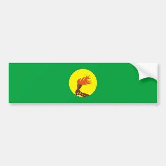 nom de symbole de nation de drapeau de pays du autocollant de voiture