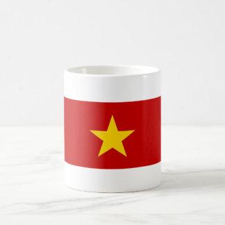 nom de symbole de nation de drapeau de pays du mug