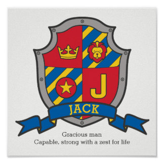 Nom des garçons J de Jack et signification de Poster
