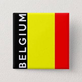 nom des textes de drapeau de pays de la Belgique Badge Carré 5 Cm