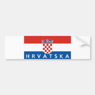 nom des textes de hrvatska de pays de drapeau de autocollant de voiture
