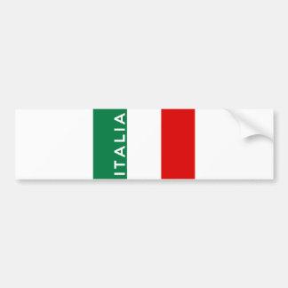 nom des textes de pays de drapeau de l'Italie Autocollant De Voiture