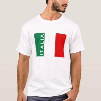nom des textes de pays de drapeau de l'Italie T-shirt