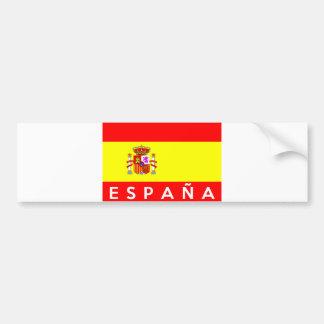 nom espagnol des textes de pays de drapeau autocollant de voiture
