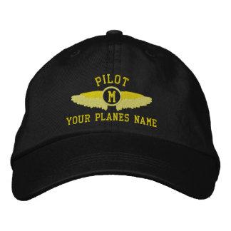 Nom et monogramme faits sur commande pilotes casquette de baseball brodée