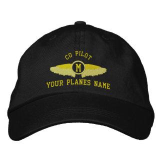 Nom et monogramme faits sur commande pilotes chapeau brodé