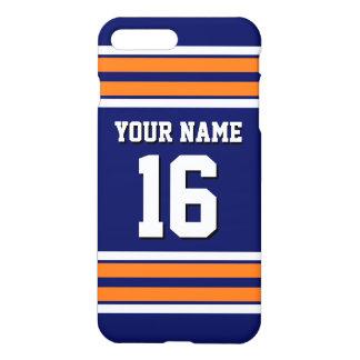 Nom fait sur commande orange de nombre de Jersey Coque iPhone 8 Plus/7 Plus