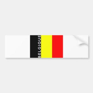nom français des textes de pays de la Belgique Autocollant De Voiture