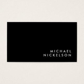 Nom masculin classique simple de | sur le noir cartes de visite