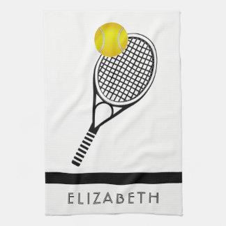 Nom ou monogramme personnalisé par tennis linge de cuisine