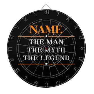 Nom personnalisé l'homme le mythe la légende cibles de fléchettes