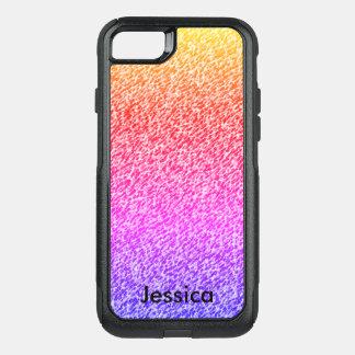 Nom personnalisé par couleurs de gradient coque OtterBox commuter iPhone 8/7