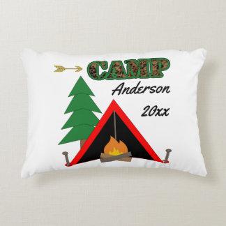 Nom sportif de tente de feu de camp de camping coussins décoratifs