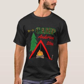 Nom sportif de tente de feu de camp de camping t-shirt
