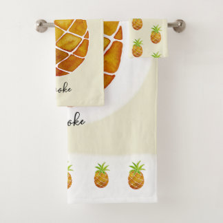 Nom tropical de fruit d'ananas d'aquarelle unisexe