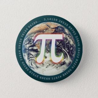 Nombre de pi sur des maths de la terre | badge rond 5 cm