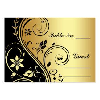 Nombre floral PlaceCard de Tableau d'or et de Carte De Visite Grand Format