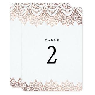 Nombre sensible de Tableau de mariage de dentelle Carton D'invitation 11,43 Cm X 15,87 Cm