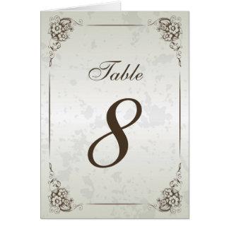 Nombre vintage de Tableau de réception de mariage Carte De Correspondance
