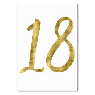 Nombres de Tableau avec l'effet numéro 18 de