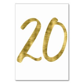 Nombres de Tableau avec l'effet numéro 20 de