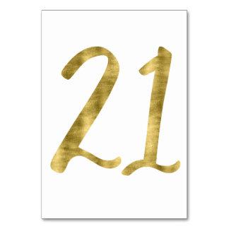 Nombres de Tableau avec l'effet numéro 21 de
