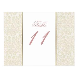 Nombres de Tableau d'ivoire et d'or Carte Postale