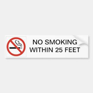 NON-FUMEURS À MOINS DE 25 PIEDS AUTOCOLLANT DE VOITURE